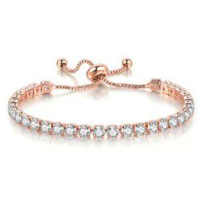 18k White or Rose Gold Diamond Tennis Bracelet